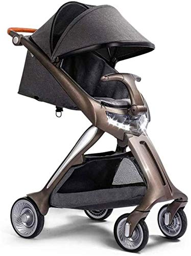 WYRRJ 【New Upgrade】 Chat Compact Lightweight Travel Stroller, Pram Bearing 20kg with Sitting and Lying Suitable for Airplane Stylish Pushchair (Color : B)