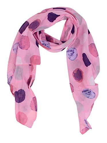Cashmere Dreams Cashmere Dreams Seiden-Tuch für Damen mit Punkt-Print von Zwillingsherz/Elegantes Accessoire für Frauen auch als Schal/Seiden-Schal/Halstuch/Schulter-Tuch oder Umschlagstuch einsetzbar (rose)