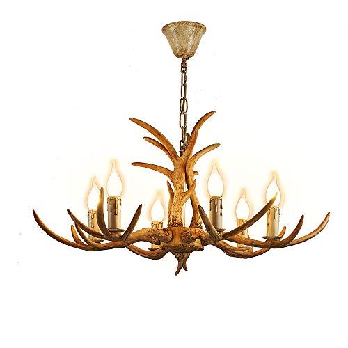 Casa Padrino - Lámpara de techo (60 cm, cuerno de ciervo, cuerno de ciervo)