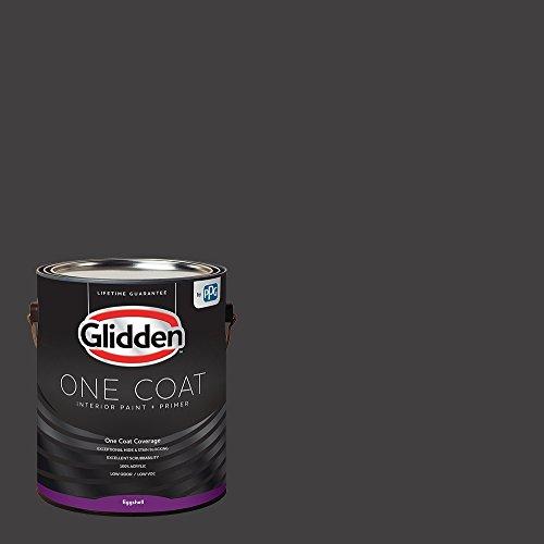 Glidden Interior Paint + Primer: Black/Black Magic, One Coat, Eggshell, 1-Gallon