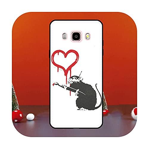 Cute Cartoon Animal Rata para Samsung Galaxy J1 J3 J5 J7 2016 A6 A8 J4 J6 Plus J8 A7 A9 2018 A3 A5 2017 Funda para teléfono K22226-J7 2016 - J710