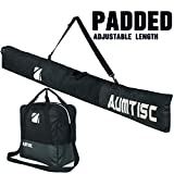 AUMTISC Ski Bag Padded 2 Piece Ski and Boot Bag Combo for 1 Pair of Ski Boots...
