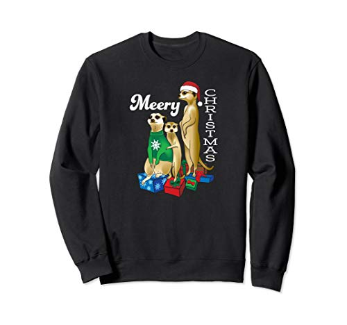 Meery Christmas Funny Meerkat Holiday Sweatshirt