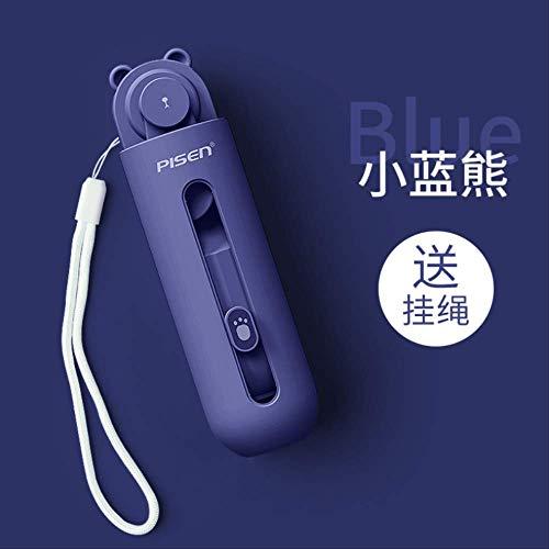 Ventilador pequeño portátil USB pequeño cargador de mano mini plegable ultra silencioso gran ventilador de viento dormitorio compre uno y llévese otro gratis
