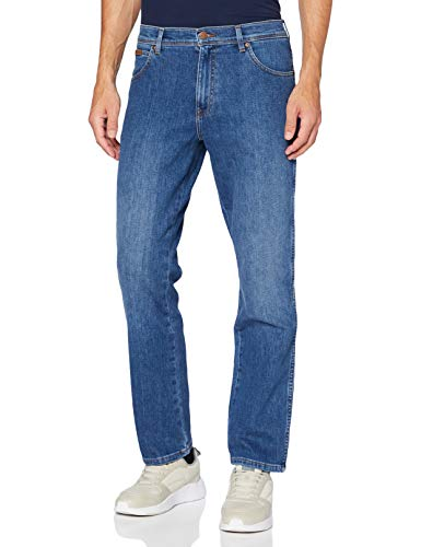 Wrangler Herren Texas Contrast Straight Jeans, HOT Rock, 42W / 32L