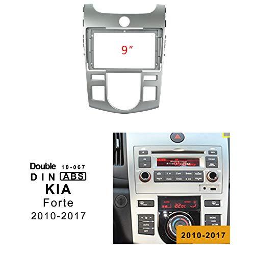 LEXXSON Auto Radio In-Dash Montage Frame Radio Installatie Fascia voor 9 inch Scherm Auto Stereo voor KIA FORTE 2010-2017 (Automatische airconditioner)