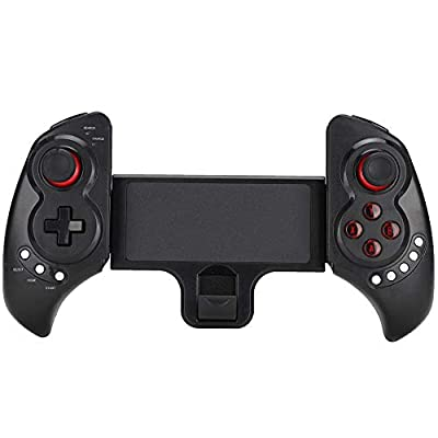 Mobile Game Controller, ABS Flexible Wireless Bluetooth Game Handle Shoot Aim Trigger Gamepad Grip for Mobile Phone Tablet PC