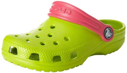 Crocs Classic Kids, Sabots Mixte enfant Vert (Volt Green/Raspberry) 29/31 EU