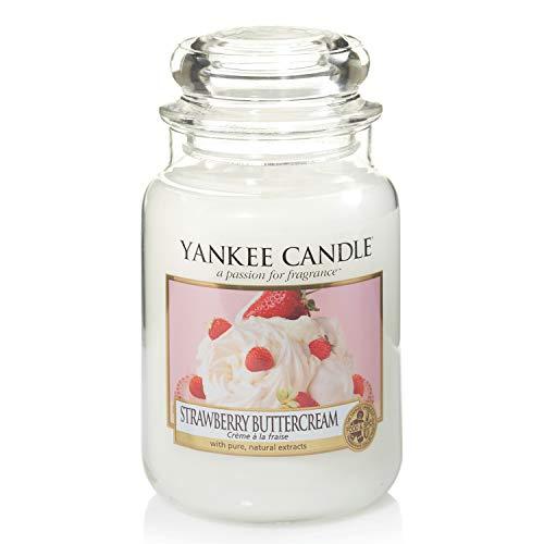 Yankee Candle Duftkerze im großen Jar, Strawberry Buttercream, Brenndauer bis zu 150Stunden