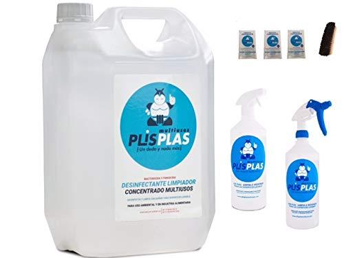 Desinfectante Concentrado H.A. - PLIS PLAS Multiusos - SIN LEJIA - Eficaz contra Bacterias, Hongos y *Virus - Potente limpiador desengrasante y quitamanchas para toda superficie lavable