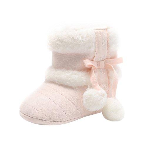 ❤️ Zapatos de Invierno, Primer Paso para los niños, Baby Girl Boy Pelotas Suaves para el Cabello Botas para la Nieve Infant Toddler Warming Crib Shoes Absolute