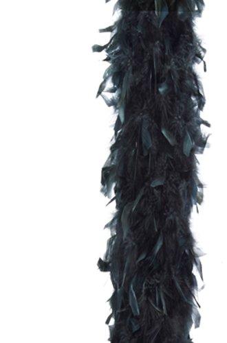 Guirca - Boa de Plumas, Color Negro, NG, 9252221008827