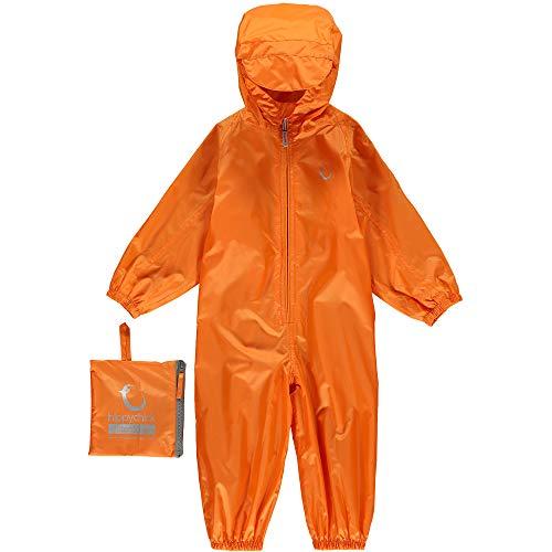 HIPPYCHICK Kinder Packasuit Alles In Einem Anzug Wasserdichter, Mandarin Orange, 6-7yrs, HWPMO6-7