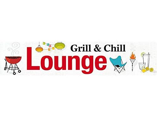 Blikken waren Fabrik Braunschweig GmbH - Grill & Chill Lounge Grillen BBQ - metalen bord straatbord 46x10 cm STR 214