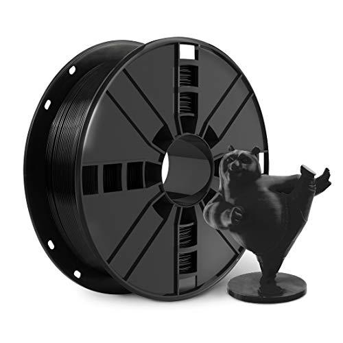 NOVAMAKER 3D Printer Filament - Black 1.75mm PLA Filament, PLA 1kg(2.2lbs), Dimensional Accuracy +/- 0.03mm