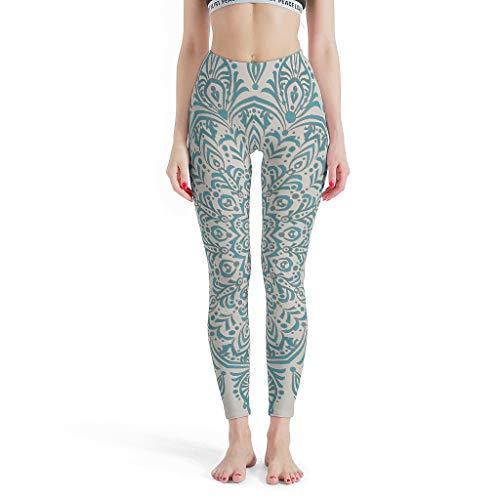 Dogedou joggingbroek sport yoga broek meisjes donker turquoise mandala yogabroek voor bont