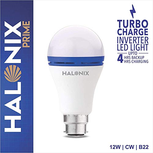 Halonix 12 Watt Turbo Charge Inverter LED Bulb (Cool White)