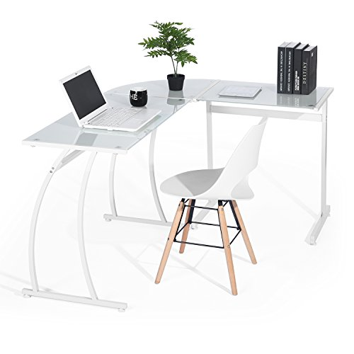 GreenForest Office Desk L Shape Corner Computer PC...
