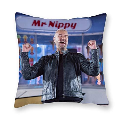 Paddy Mcguinness - Cojín de almohada de lona para cama individual, sin relleno, 40 x 40 cm (solo funda)