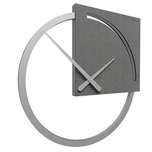 CalleaDesign - Orologio da Parete Karl, radica Grigia