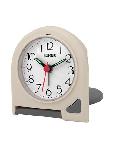 LORUS 10831 - Reloj Despertador Analógico Blanco