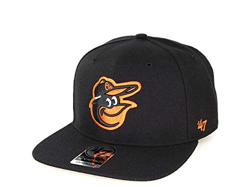 '47 Baltimore Orioles MLB Black Sure Shot Brand Captain Wool Snapback Hat