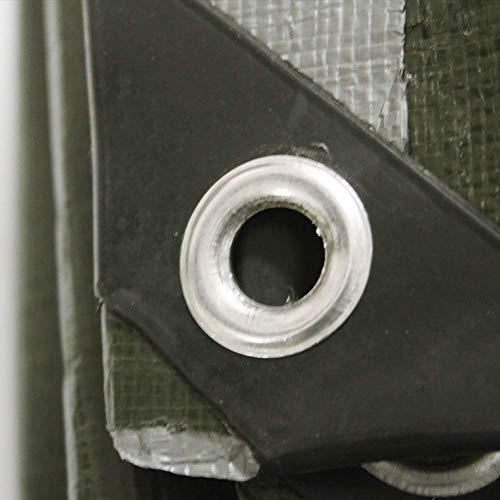JY & WIN waterdicht kunststof zeil met metalen ogen robuuste dikke afdekkingen voor houten palen van brandhout 180 g m & sup2; (grootte: 4 mx 8 m) 3 m x 4 m.