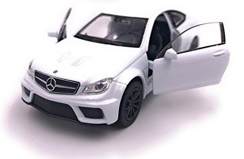 Welly Mercedes C63 Black Series Model Car Auto License Prodotto 1: 34-1: 39 Bianco