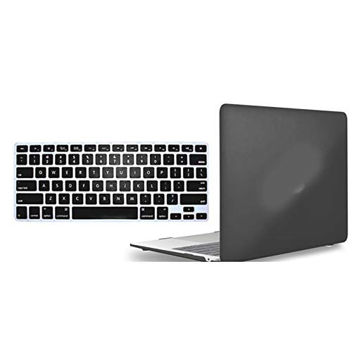 Matte Hard Shell Laptop Protector case + Keyboard Cover For MacBook Air Pro Retina 11 12 13 15-Black-Pro 13 A 2159 (2019)