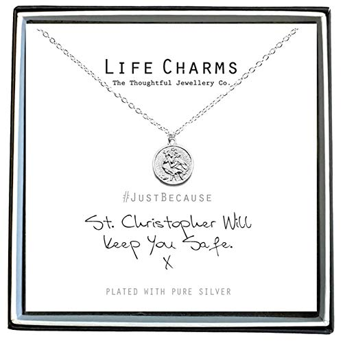 Life Charms St Christopher Will Keep You Safe Necklace