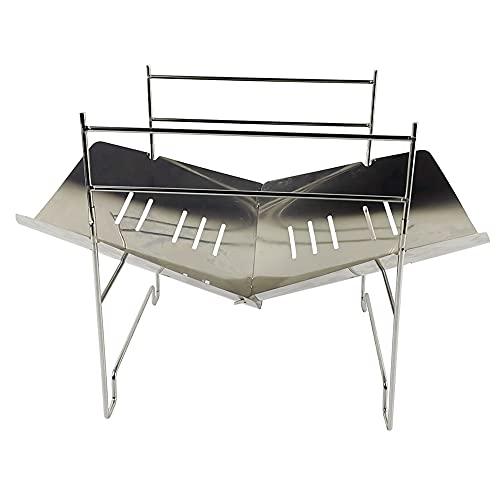 Bomoya Mochila plegable portátil para camping, estufa de barbacoa extraíble para exteriores, mochila plegable de carbón, barbacoa de acero para picnic, jardín, terraza, camping, viajes