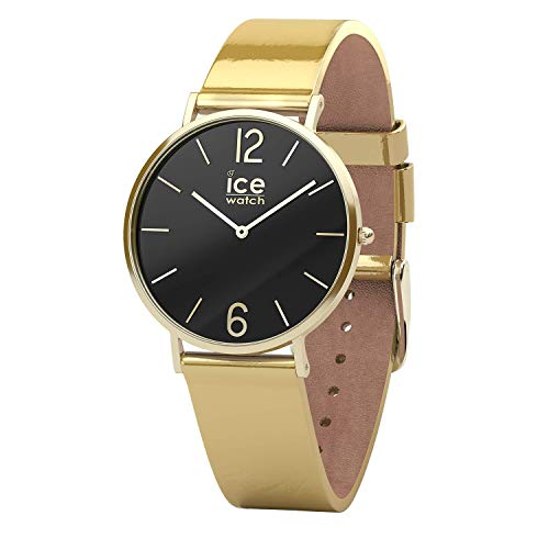 Ice-Watch - CITY sparkling - Metal Gold - Women's wristwatch with leather strap - 015090 (Small)