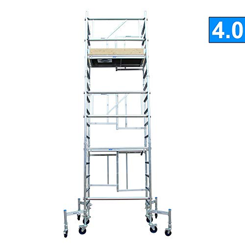 Alumexx X-Up 4.0 Vouwsteiger - Éénmans - Steiger - Vouw - Steiger - Aluminium - Steiger - Klap - Frame - 6 m Werkhoogte - Lichtgewicht - Op Wielen - Hollands Fabricaat