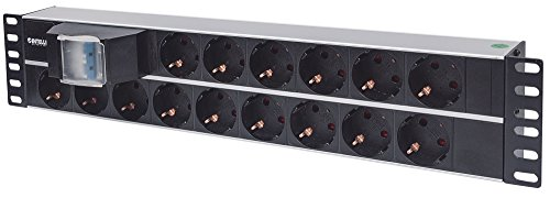 Intellinet 714051 15salidas AC 2U Aluminio, Negro unidad de