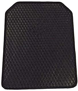 DEEP Edge 1-Piece Heavy Duty Car Mat - Black [Rubber]