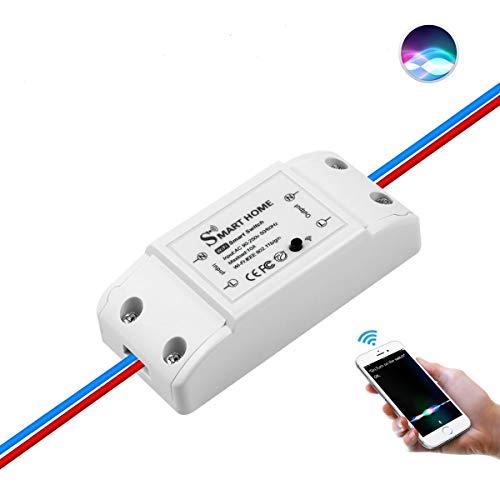 Interruptor universal Smart Homekit, AIMENGTE, interruptor inteligente wifi, funciona con Apple Homekit y Siri, mando a distancia, control por voz, temporizador, perfecto para casa inteligente
