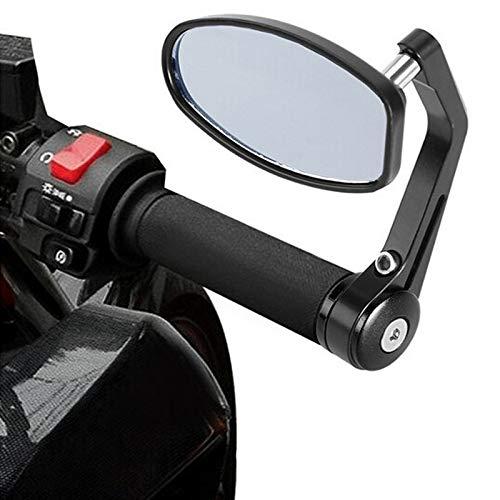 JXSMBP Motorfiets spiegels bar einde spiegel Achteraanzicht Motor stuur einde spiegel cafe racer retrovisor moto Motorfiets spiegels