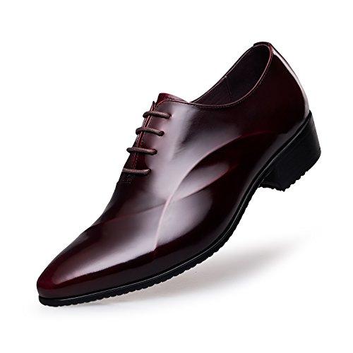 ZRO Herren-Schnürschuhe, Formale Schuhe, Modern, Rot - wein - Größe: 36.5 EU D(M)