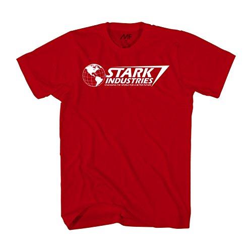 Marvel Iron Man Stark Industries T-Shirt (XXL, Red)