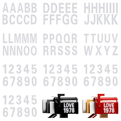 100 Pieces 3 Inch Reflective Capital Letters Sticker Numbers Decal Self Adhesive Vinyl Waterproof Numbers Sticker Letters Decal 0-9 and A - Z Mailbox Address Decal for Bin Window Signs Door Cars