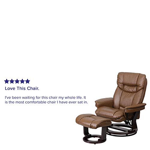 Federica Brown Leather Battery Power Recliner Buy Online