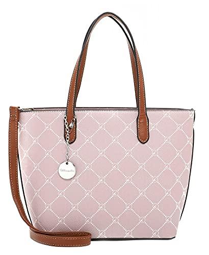 Tamaris Shopper Anastasia 30106 Damen Handtaschen Karo oldrose 651 One Size