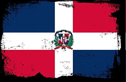Wallmonkeys WM237761 Grunge Flag-Dominican Republic Peel and Stick Wall Decals (24 in W x 16 in H), Medium