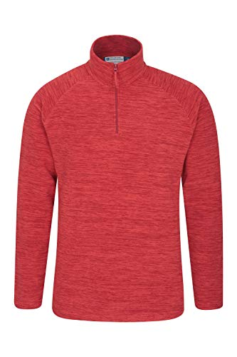 Mountain Warehouse Snowdon Mens Micro Fleece Pullover - For Winter Rust 4X-Large