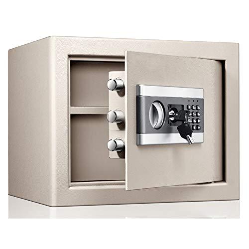 Tresor Safe für A4-Dokumente, feuerfeste, wasserdichte, kleine, tragbare Schranksafes für das Büro zu Hause in der Reisebranche, 30 cm hoch (Color : Gold)
