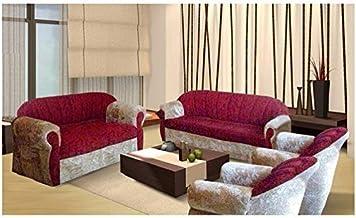 Royal 4 Piece Modern Living Room Sofa Set - Classic Cream/Red