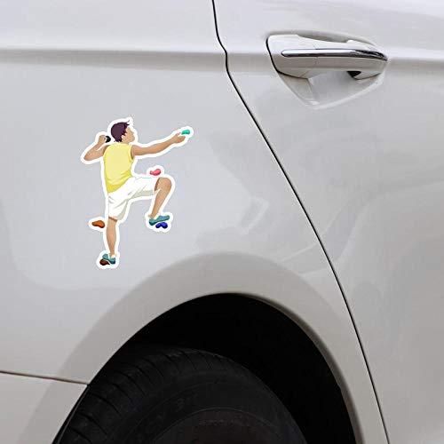 GWCU Car sticker 13.6x9.9CM Coolest Challenge Perseverance Sports Rock Climbing Car Stickers Accessories