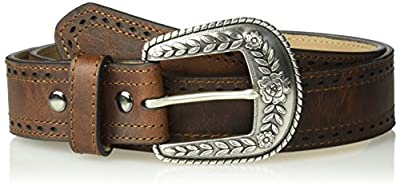 Ariat Women's Perforated Edge Belt, brown, Medium
