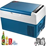 VBENLEM 22L Portable Anti-Shake Car Refrigerator, 23 Quart RV Fridge, 12/24V DC & 110-240V AC Vehicle Car Truck Boat Mini Electric Cooler for Driving Travel Fishing Outdoor and Home Use -4°F-50°F