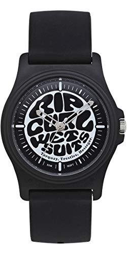 RIP CURL Reloj Revelstoke - Negro - Ligero a Prueba de Agua a Prueba de rocío - Dial gráfico Impreso